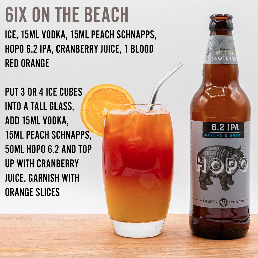 six on the beach