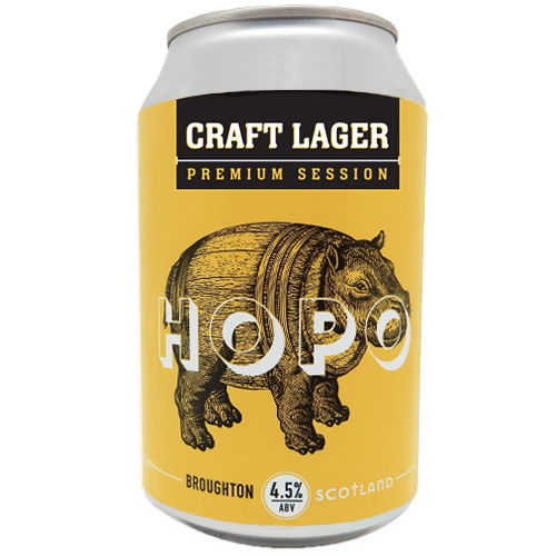 HOPO CRAFT LAGER CANS GLUTEN FREE (12)